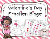 Valentine's Day Fraction Bingo
