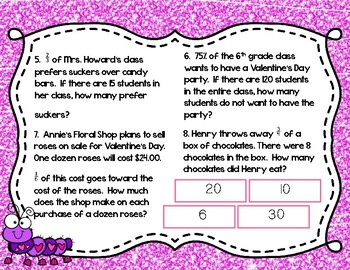 Valentine's Day Fraction, Decimal, Percent with Google Drive