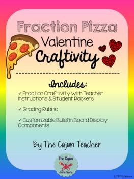 Valentine's Day Fraction Pizza Craftivity