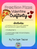 Valentine's Day Fraction Pizza Craftivity