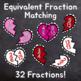 Valentine's Day Fraction Sort Activity