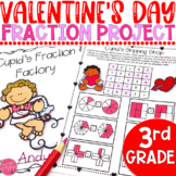 Valentine's Day Math Fractions: 3rd Grade Project
