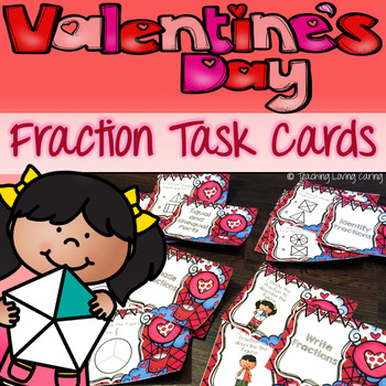 Valentine's Day Fractions Task Cards