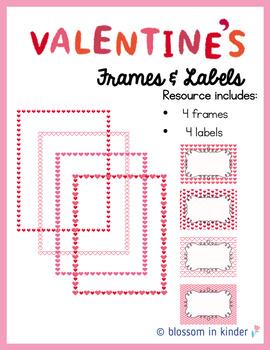 Valentine's Day Frames & Labels