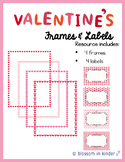 Valentine's Day Frames & Labels