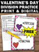 FREE Valentine's Day Division Task Cards 4th 5th Grade Mat