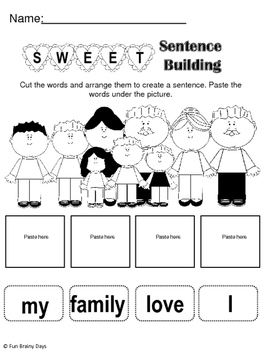 Valentine's Day Free ELA and Math Worksheets