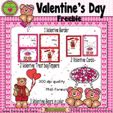 Valentine's Day Free Graphics and Bonus Cards and Toppers