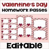 Valentine's Day Homework Passes
