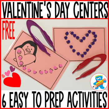 Valentine's Day Freebie. 6 Hands-on Activities. PreK, K and Special Education.