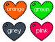 Valentine's Day Freebie Color Identification Hearts
