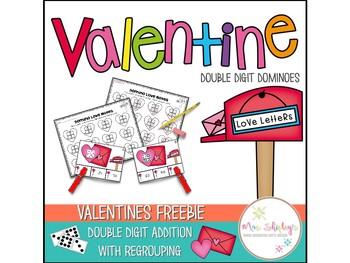 Valentine's Day Freebie—Double Digit Addition