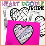 Valentine's Day Freebie Heart Doodle