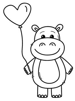 Valentine's Day Freebie Hippo #tptCCJan2017