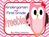FREE Valentine's Day Worksheets: Kindergarten and First Grade