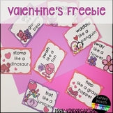Valentine's Day Gross Motor Freebie for Pre-K, Kindergarten, and Homeschool