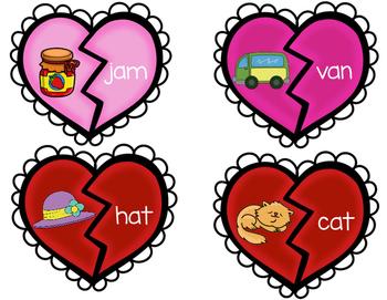 Valentine's Day CVC Puzzles Center | Word Work | Reading | CVC Words