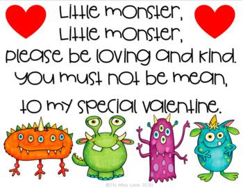 Valentine's Day Freebie (monster themed)