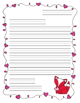 Valentine's Day Friendly Letter Template