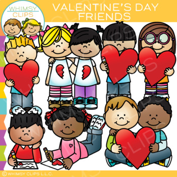 Friends and Valentines Clip Art