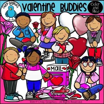 {25% off!} Valentine's Day Friends Clip Art Bundle - Chirp Graphics