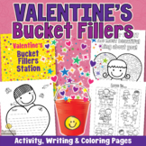 VALENTINE'S DAY Friendship Coloring Activity with Bucket Filling