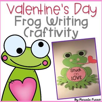 Valentine's Day Frog Writing Craftivity