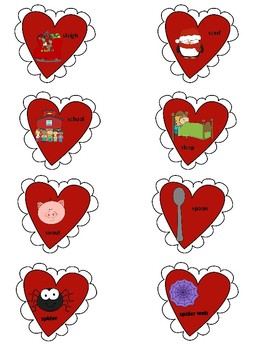 Valentine's Day Fronting and Cluster Reduction Cards