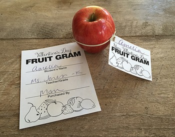 Small Tag Valentine's Day Fruit Gram (Candy Gram) Fund Raiser