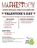 Valentine's Day Fun: Applied Math & Algebra: System of Lin