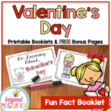 Valentines Day Activities Literacy Fun Fact Booklet