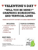 Valentine's Day Fun: Graphing Horizontal & Vertical Lines