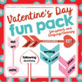 Valentine's Day Fun Pack   NO PREP Speech Language Activit