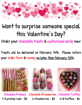 Valentine's Day Fundraiser - Flyer & Order Form
