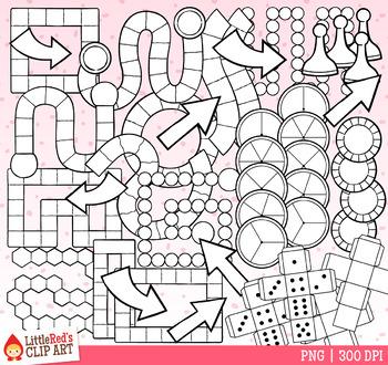Valentine's Day Game Board Templates Clip Art