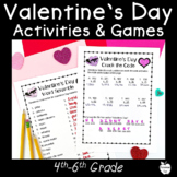 Valentine's Day Games and Activities ~ Grades 4-6