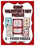 Valentine's Day Giant 4 Piece floor Puzzles ~ 5 Different