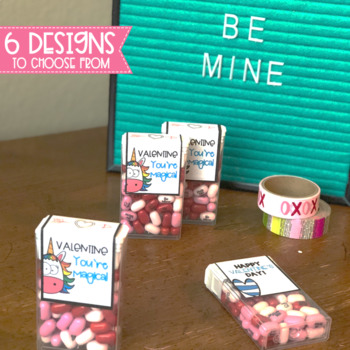 Valentine's Day Gift Candy Labels