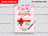 Valentine's Day Gift Card Holder, Thank You for Being Amazing gift ideas