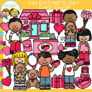 Valentine S Day Gift Shop Clip Art By Whimsy Clips Tpt