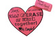 """Valentine's Day Gift Tag: Eraser """"Nobody can ERASE our memories together!"""""""