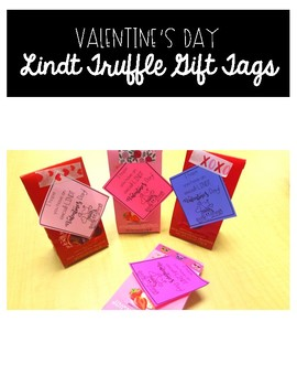 Valentine's Day Gift Tag - Lindt Truffles