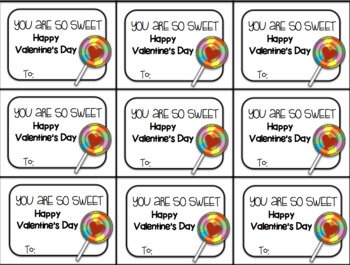 Valentine's Day Gift Tag and Homework Pass (You Are Sweet)