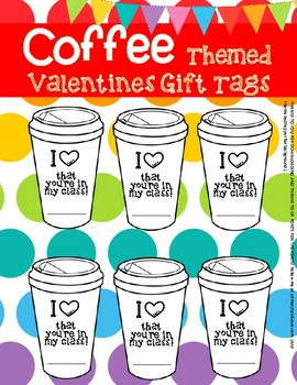 Valentine's Day Gift Tags Coffee Themed (hot cocoa)