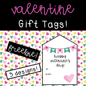 Valentine's Day Gift Tags Freebie