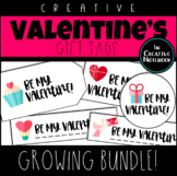 Valentine's Day Gift Tags GROWING BUNDLE | Holiday Gift Tags | Editable Sender