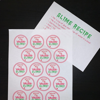 Valentine's Day Gift and Activity - You're My VALEN-SLIME!