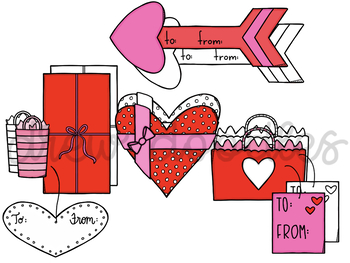 Valentine's Day Gifts- Color and Black Line COMBO