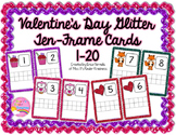 Valentine's Day Glitter Ten-Frame Cards #'s 1-20