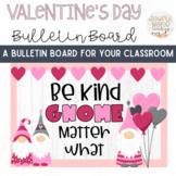 Valentine's Day Gnome Themed Bulletin Board Kit or Door Decor